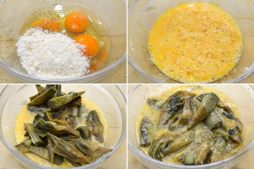 4 uova e carciofi