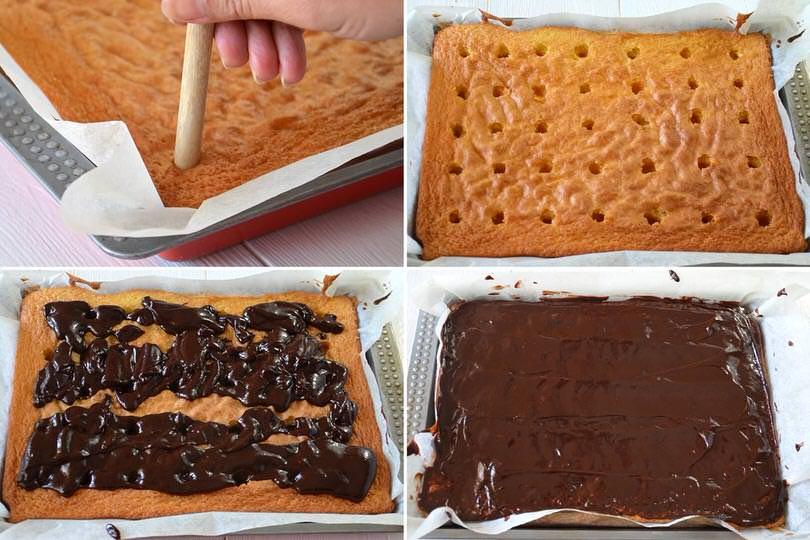 6 bucare e ricoprire con cioccolato