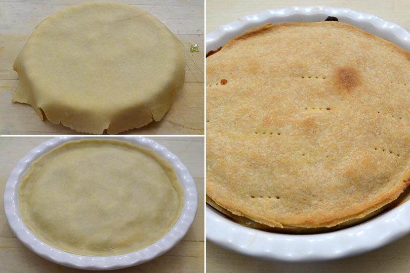 8 coprire e cuocere torta