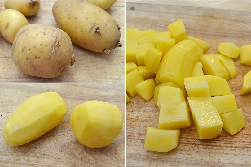 0 tagliare patate a dadini