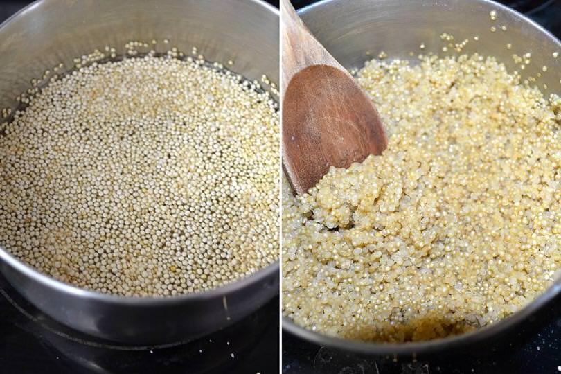 1 cuocere quinoa