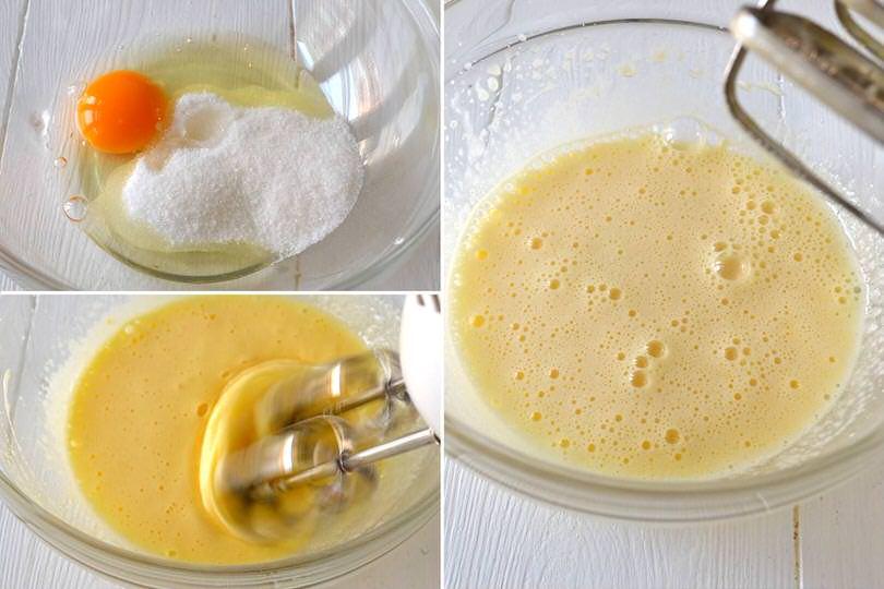 1 montare uova e zucchero