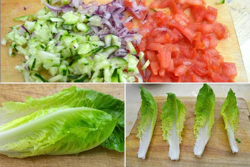 2 foglie di insalata