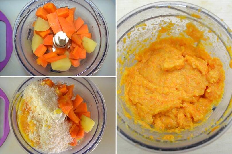 2 tritare carote e cipolle