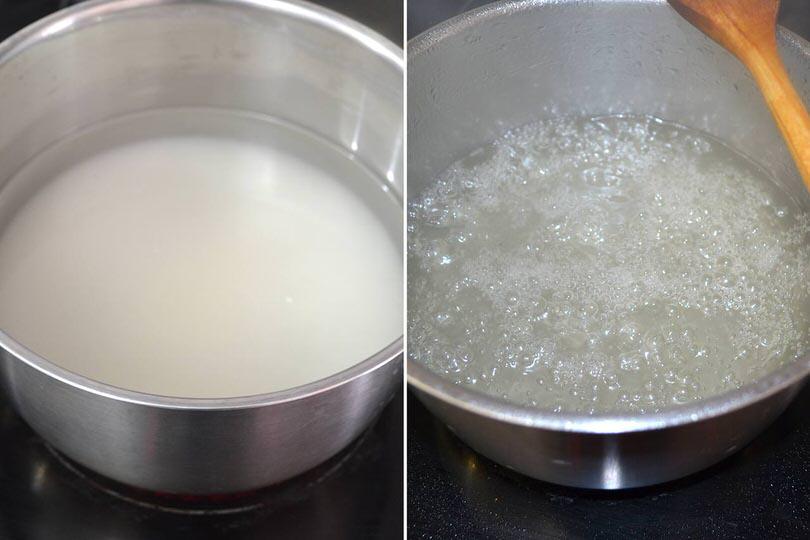4 acqua e zucchero