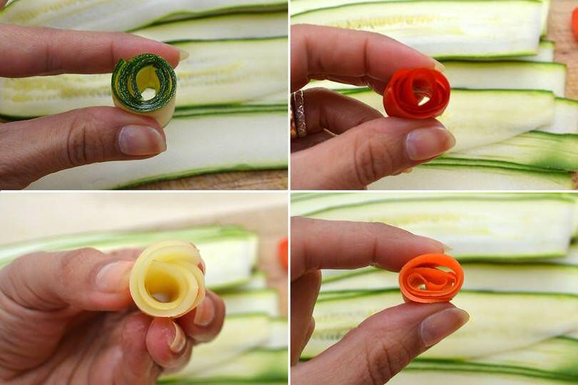 4 arrotolare verdure
