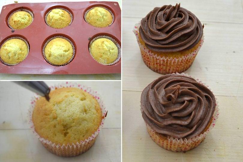4 glassare cupcake