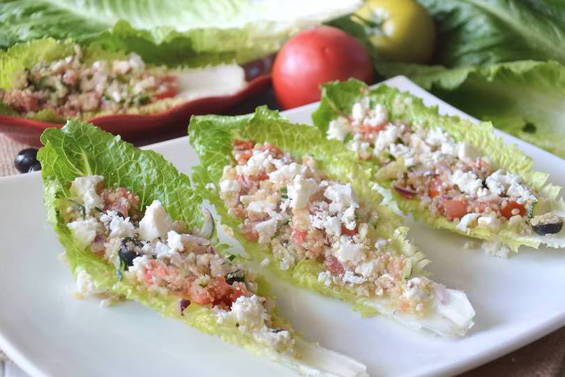 Greek salad con quinoa