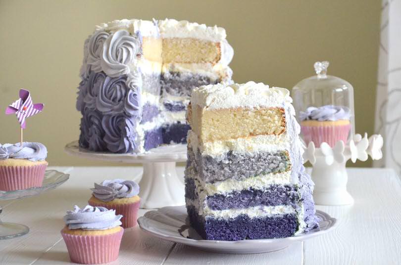 Purple-rose-cake