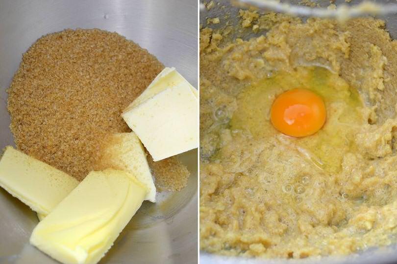1 burro zucchero uova