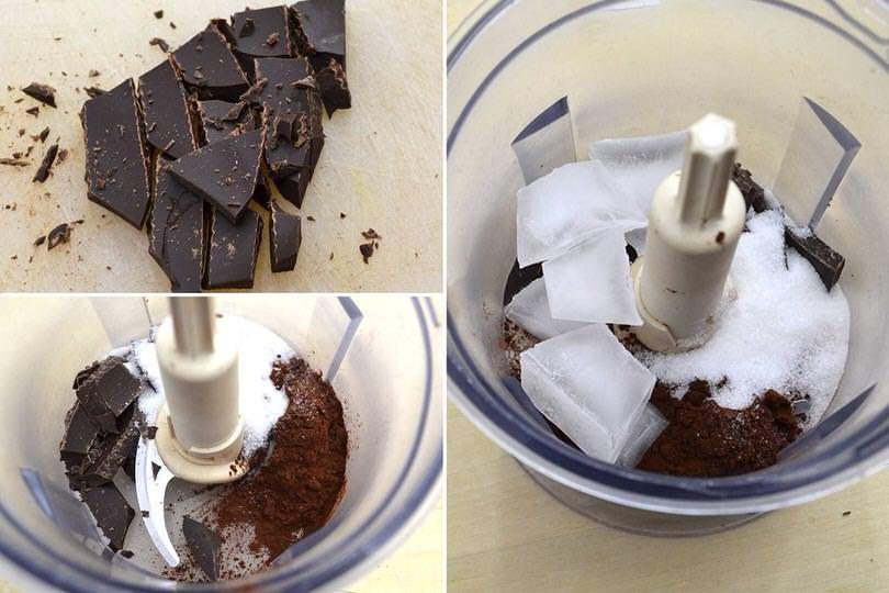 1 cioccolato nel mixer