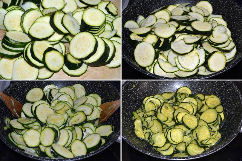1 cuocere zucchine