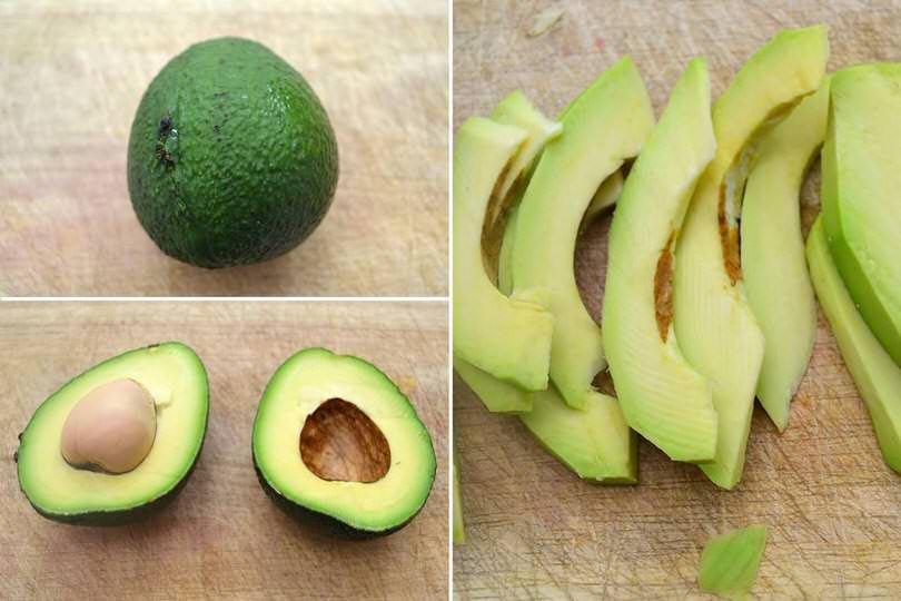 1 pulire e tagliare avocado