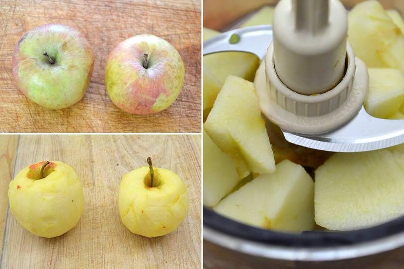 1 sbucciare e tagliare mele
