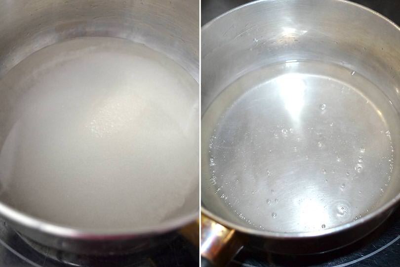 1 sciroppo acqua e zucchero