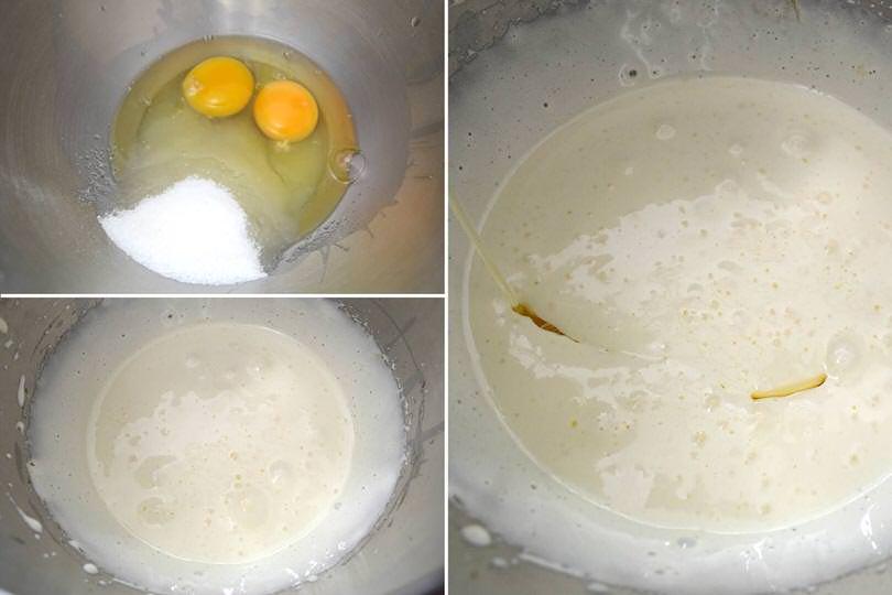 1 zucchero uova olio