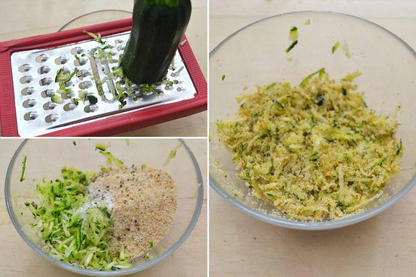 1 zucchine e pan grattato