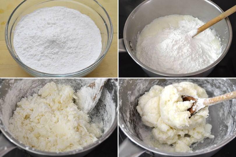 2 aggiungere farina di tapioca