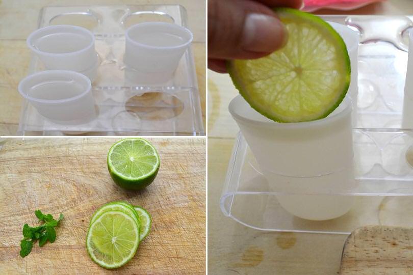 2 aggiungere lime e menta