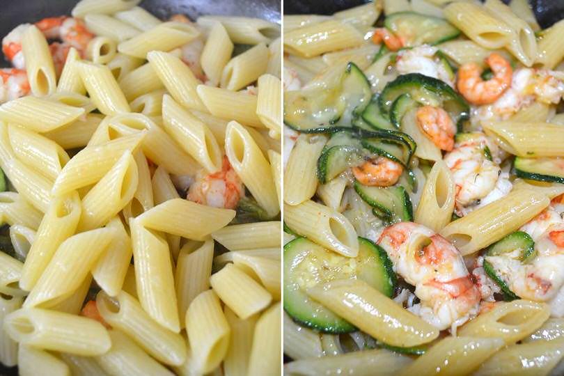 2 aggiungere pasta e mantecare