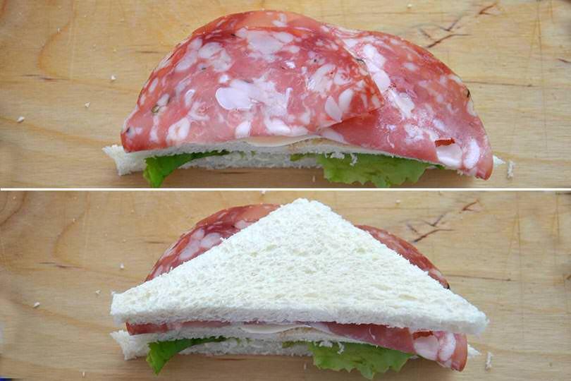 2 aggiungere salame