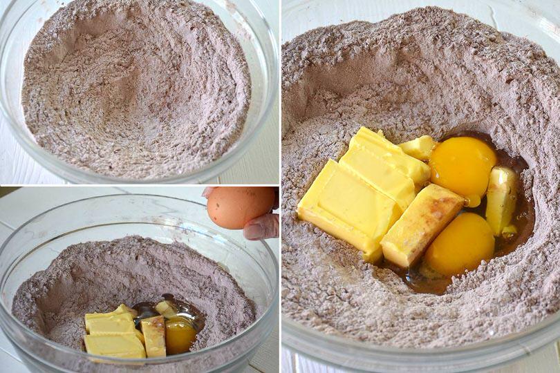 2 aggiungere uova e burro