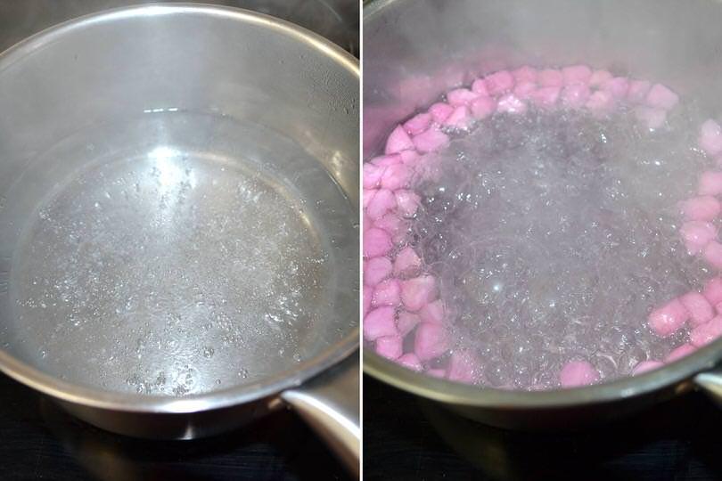 2 bollire acqua