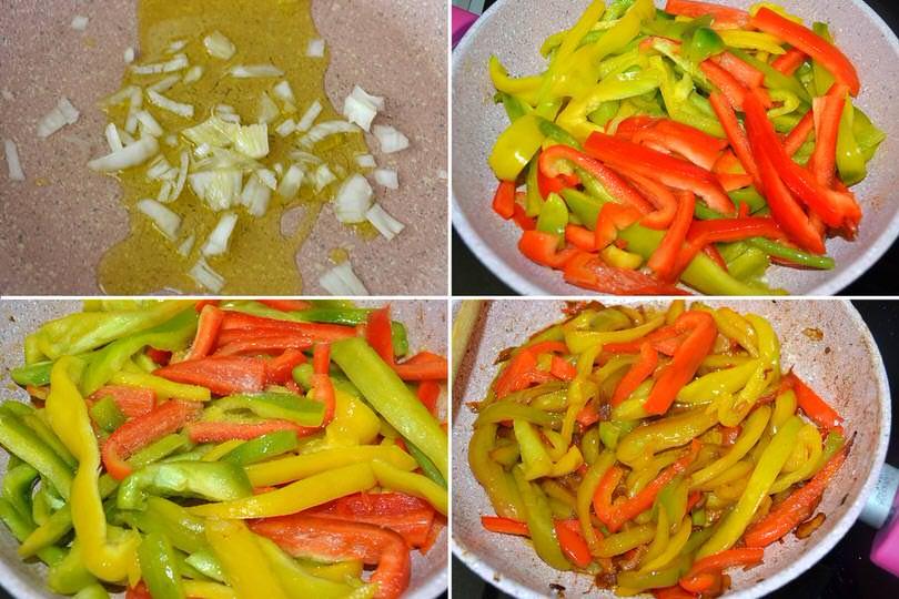 2 cuocere in padellai peperoni