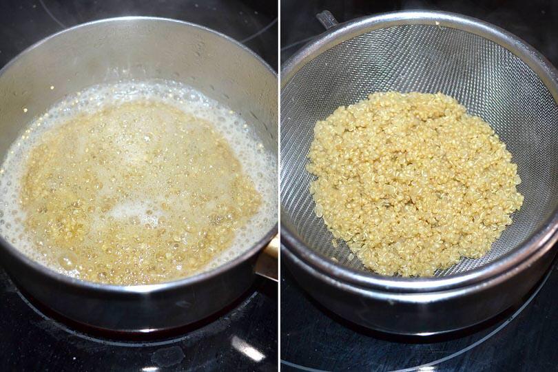 2 cuocere quinoa