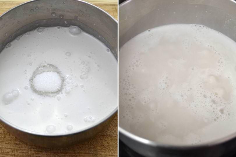 2 latte di cocco e zucchero