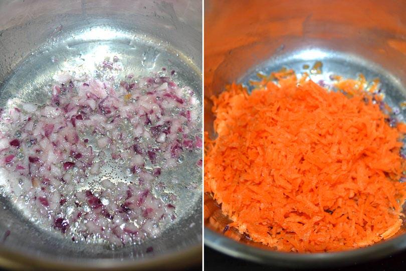 2 soffriggere carote e cipolla