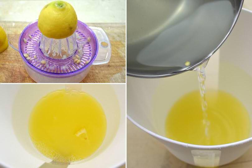 2 succo di limone e sciroppo