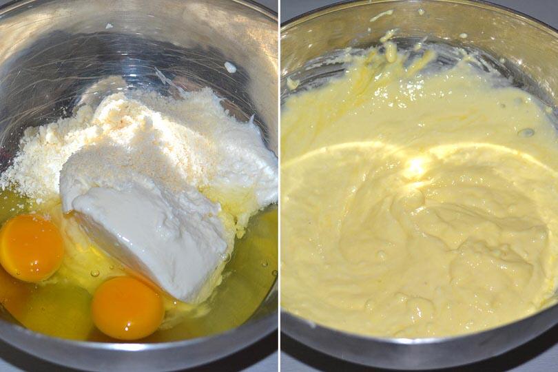 2 uova ricotta parmigiano