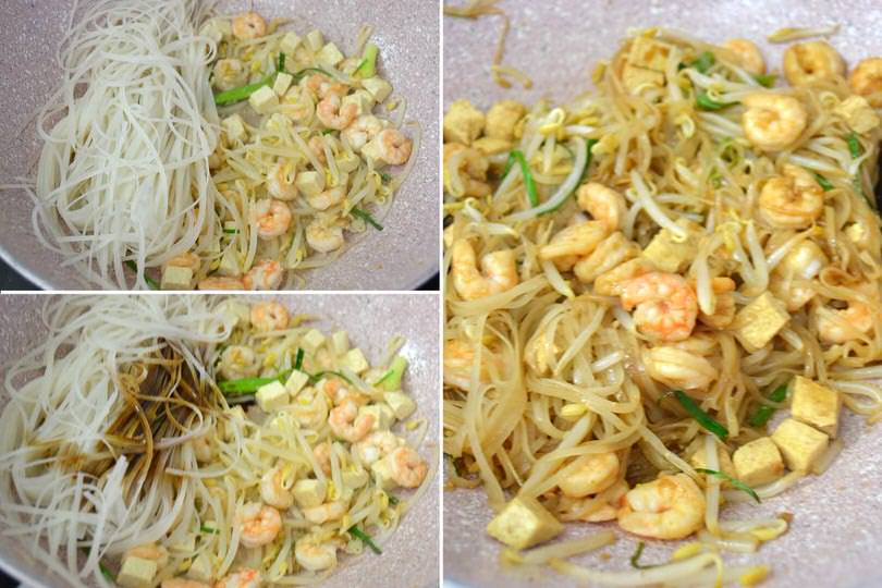 3 aggiungere noodles