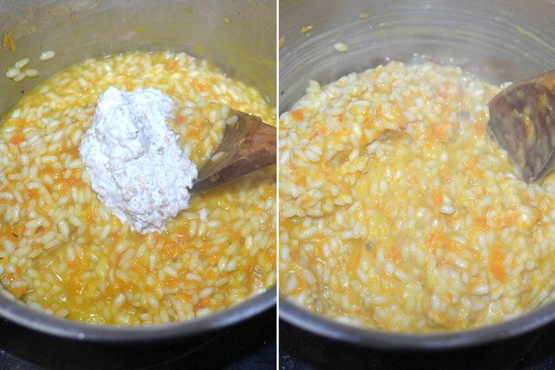 5 aggiungere crema di noci