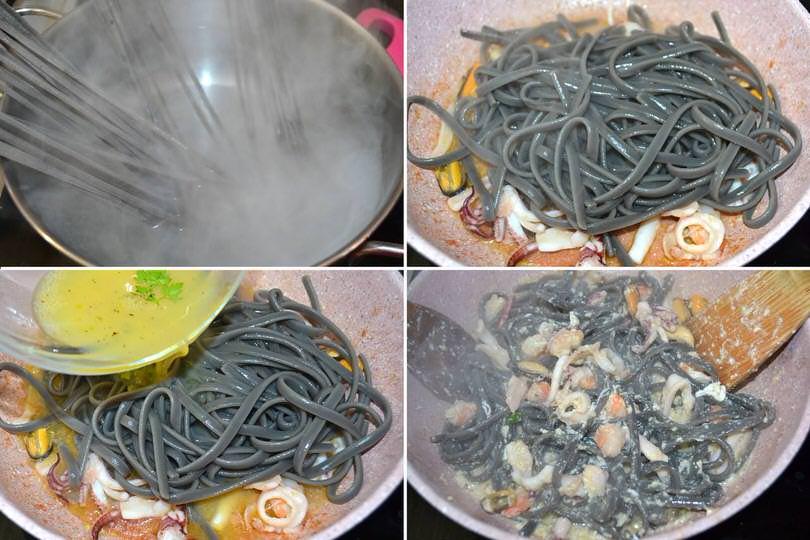 5 cuocere pasta e mantecare