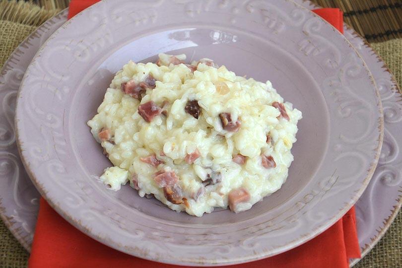 Risotto speck e scamorza ricetta risotto speck e for Ricette risotti veloci