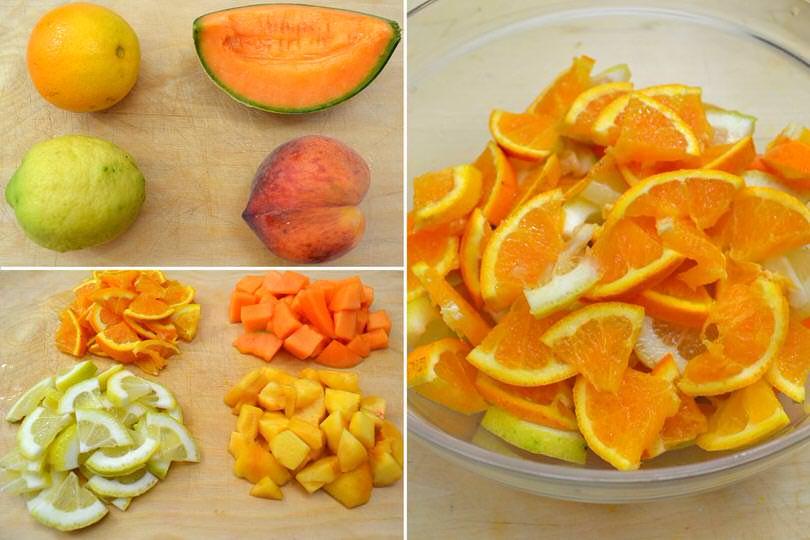1 tagliare frutta