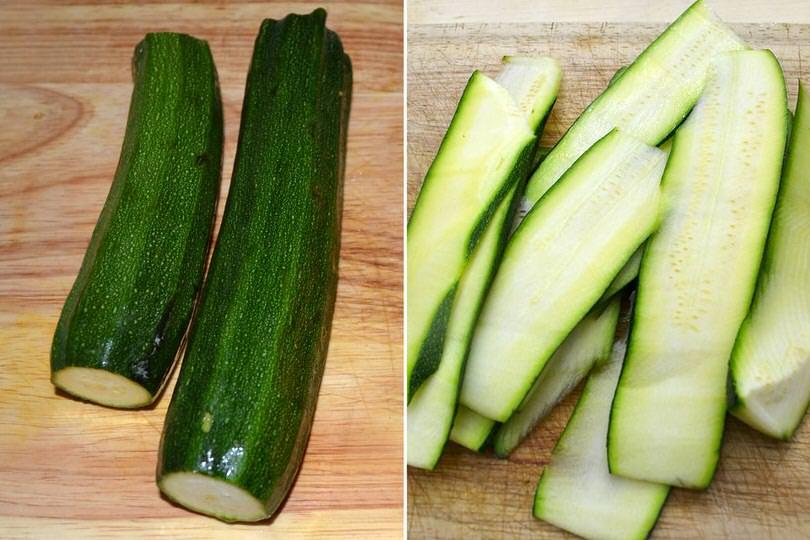 1 tagliare zucchine