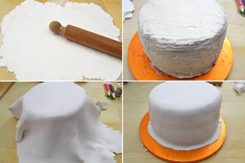 11 rivestire con pasta di zucchero