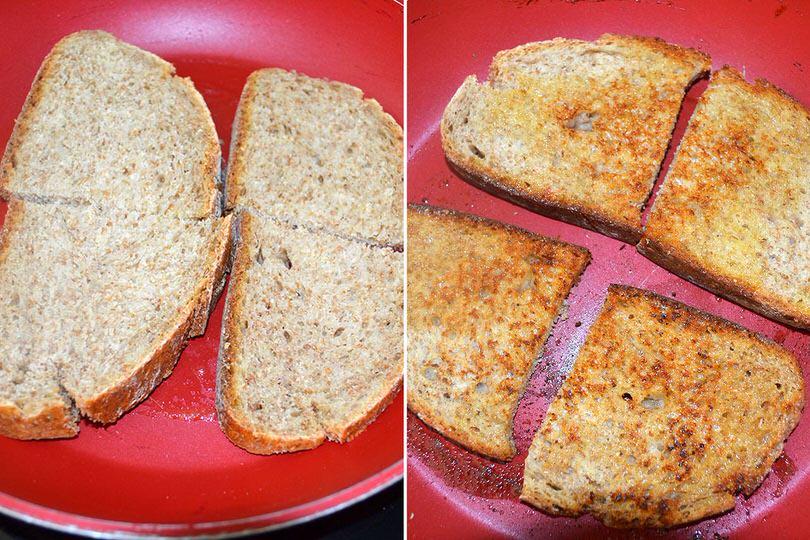2 scottare pane con burro