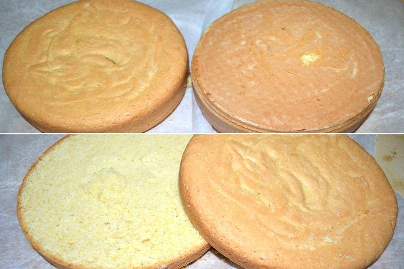 3 tagliare il pan di spagna
