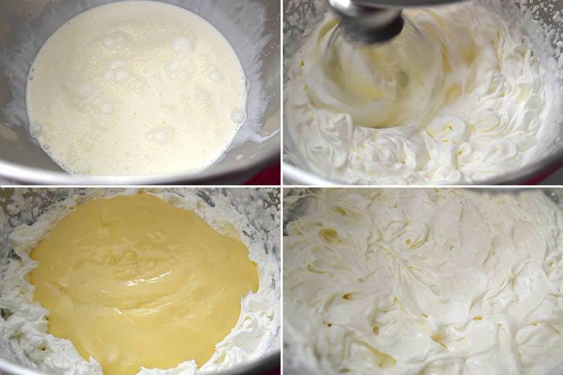 4 montare panna e aggiungere crema