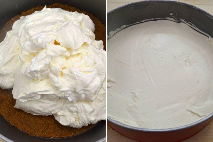 5 versare crema nello stampo