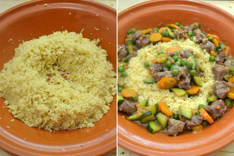 6 aggiungere manzo e verdure