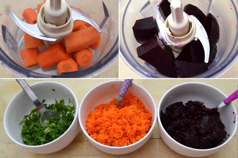 tritare carote e barbabietole