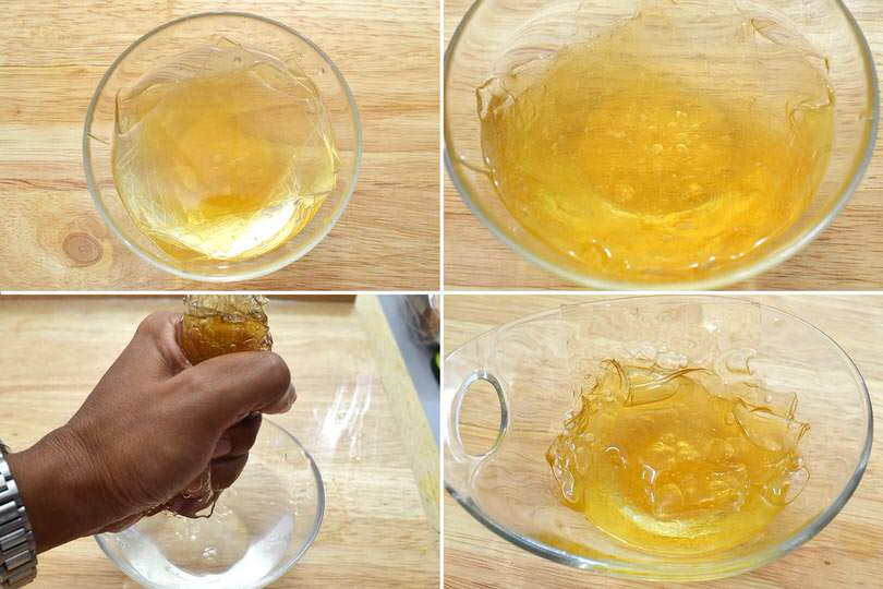 1 ammorbidire e strizzare gelatina