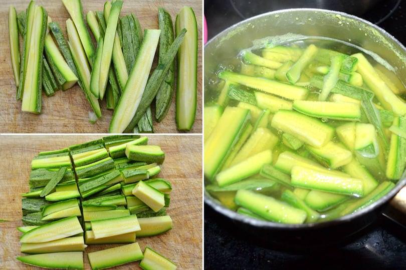 1 bollire zucchine