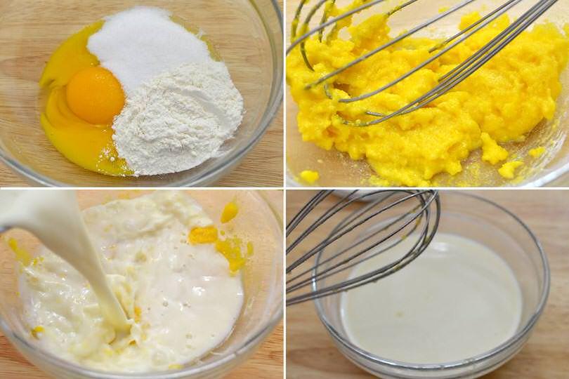1 uova farina latte