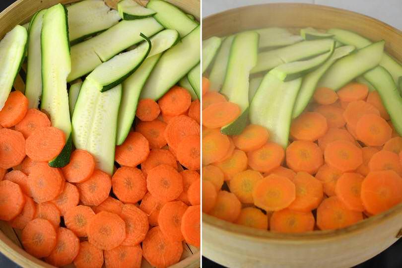 2 cuocere carote e zucchine